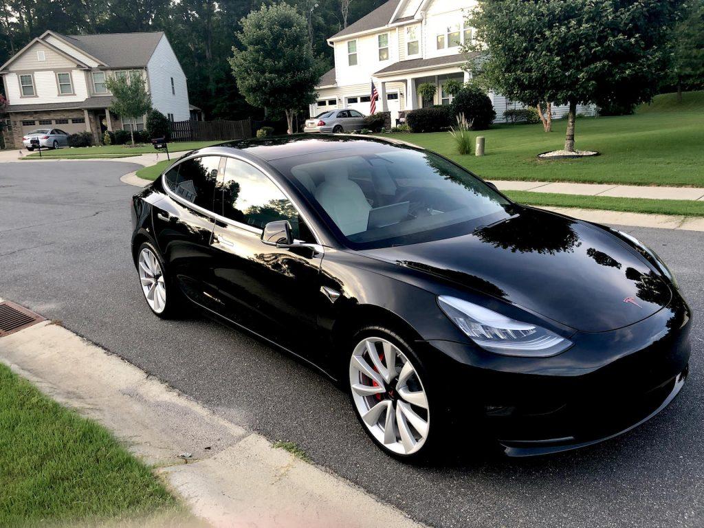 Model 3 2018 Solid Black 288f0 Only Used Tesla
