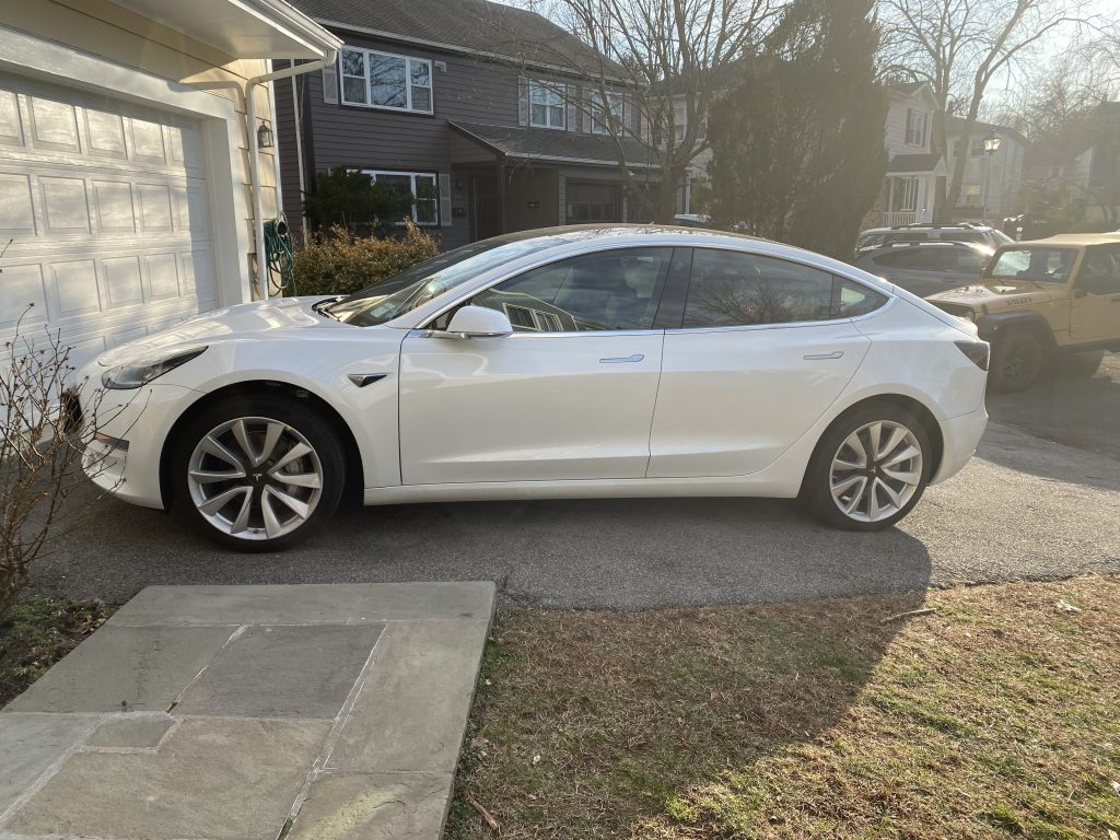 Model 3 2020 Pearl White B2e02 Only Used Tesla