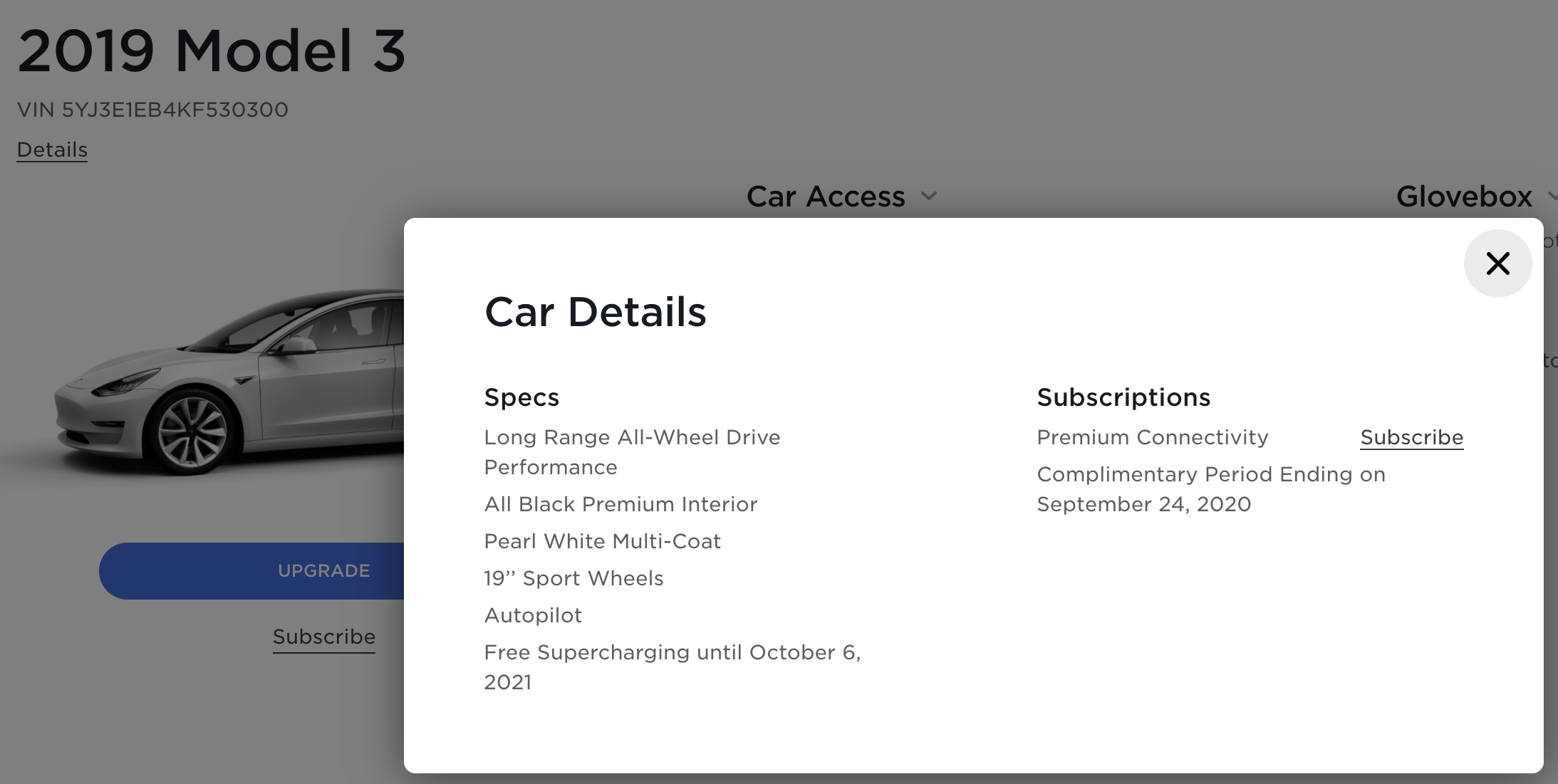 Model 3 / 2019 / Pearl White - 00acc | Only Used Tesla